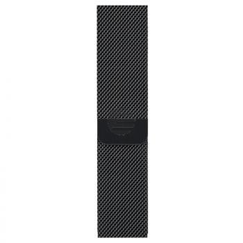 Apple Watch Series 3 Cell 42 mm Edelstahlgehäuse schwarz, Milanaise Armband schw