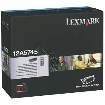 Lexmark Toner-Kartusche schwarz HC (12A5745)