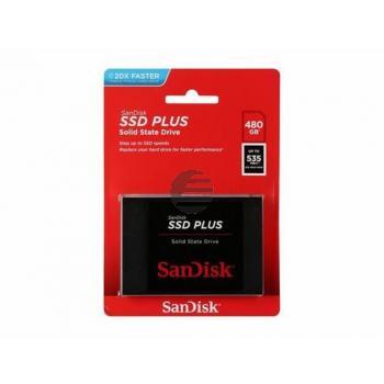 SANDISK 2.5 SSD PLUS FESTPLATTE INTERN SDSSDA-480G-G26 480GB mit 3.5 Adapter
