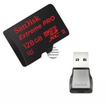 SANDISK MICRO SDHX SPEICHERKARTE 128GB SDSQXPJ-128G-GN6M3 mit USB 3.0 Adapter