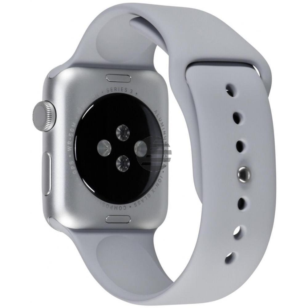 Apple Watch Series 3 38 mm Aluminiumgehäuse silber, Sportarmband nebel