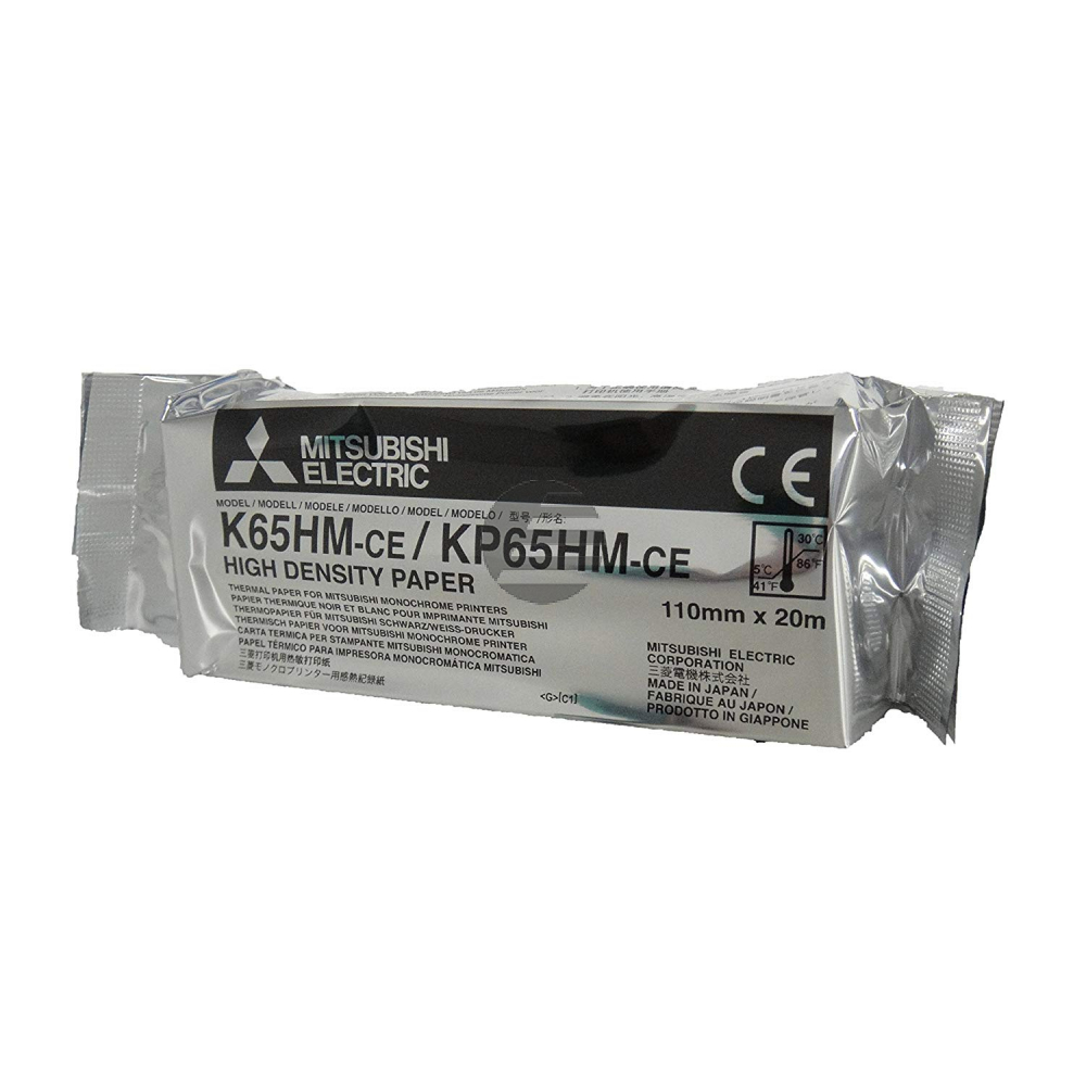Mitsubishi Thermo-Transfer-Rolle High Density Paper blue tone (KP65HM-CE, K65HM)