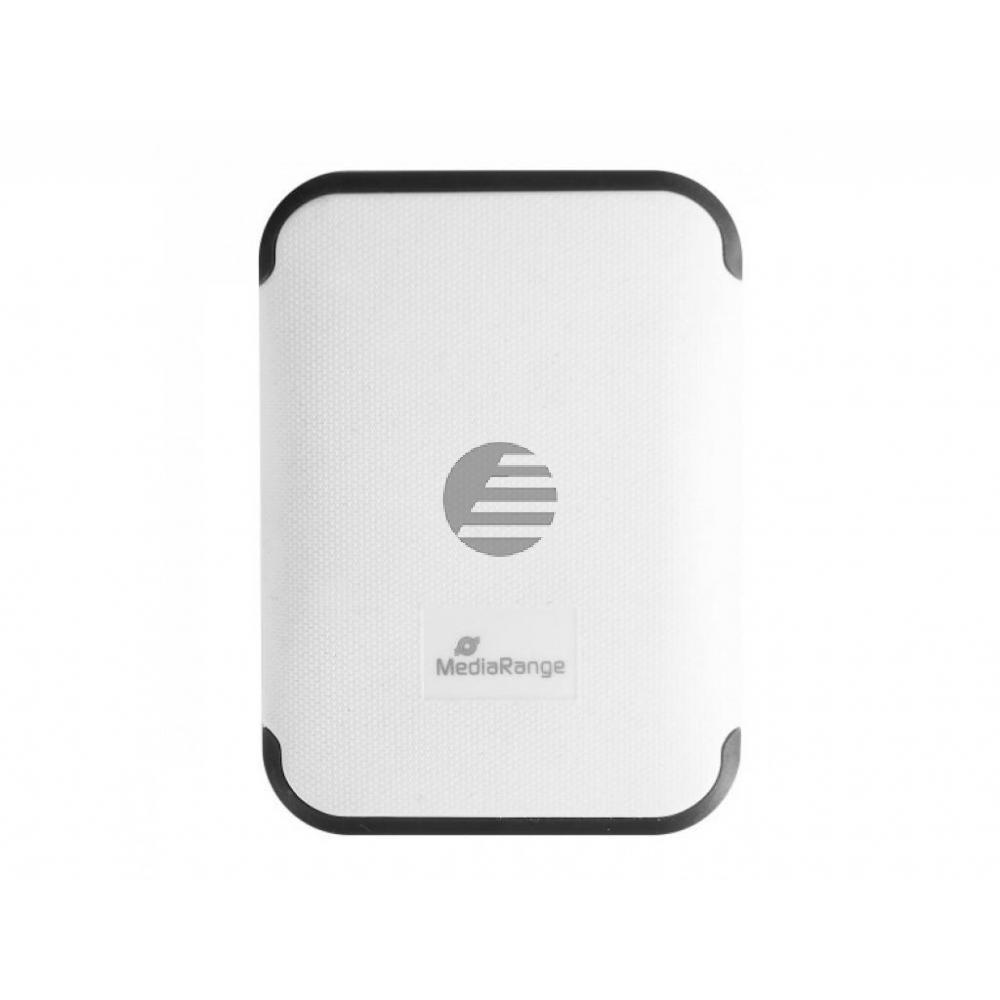 MEDIARANGE MOBILE POWERBANK WEISS MR742 5V 6600mAh 2fach USB-Anschluesse