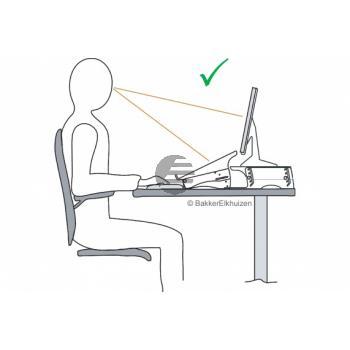BNEQDM150 BAKKER MONITORSTAENDER Q-Desk Manager150 transparent Kunststoff