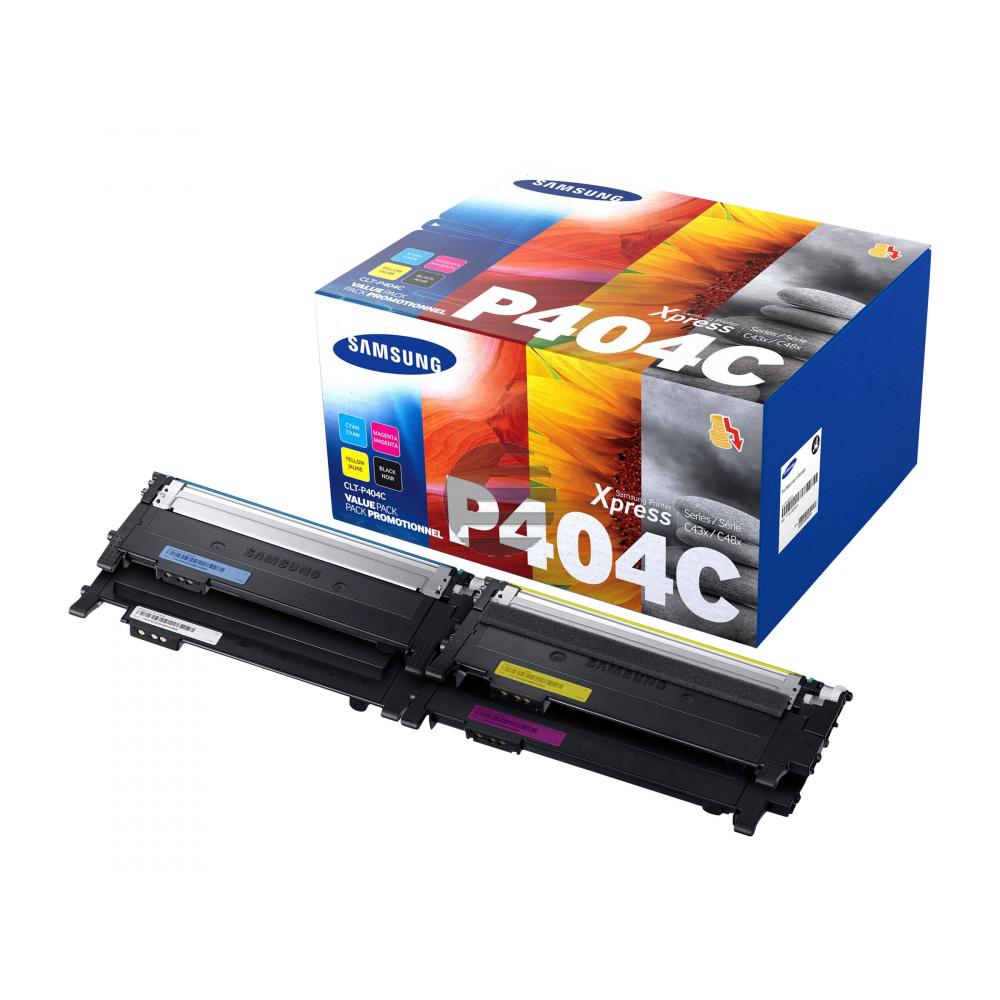 HP Toner-Kit gelb, cyan, schwarz, magenta (SU365A, P404)