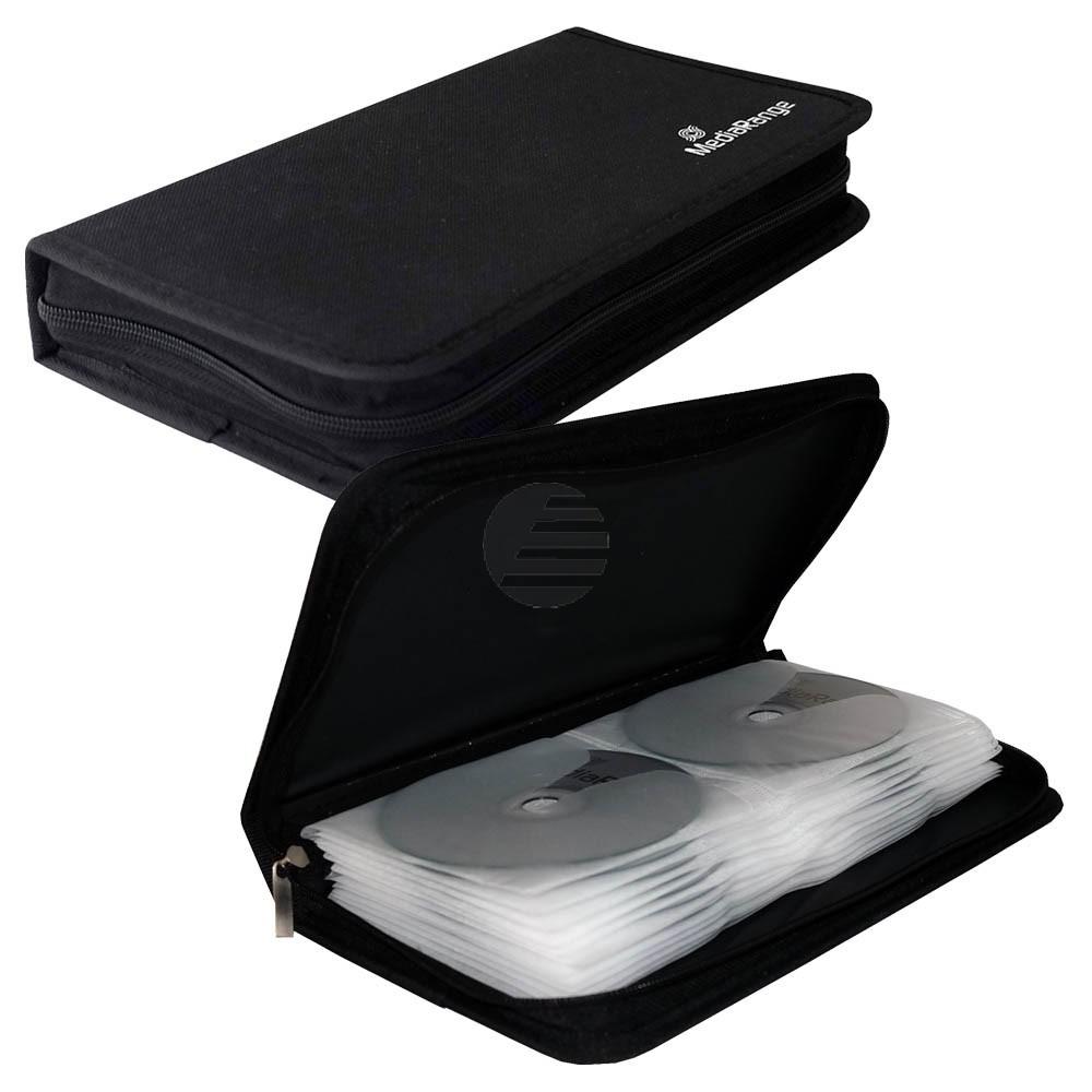 Mediarange CD Wallet black Nylon für 48 Stück (BOX51)