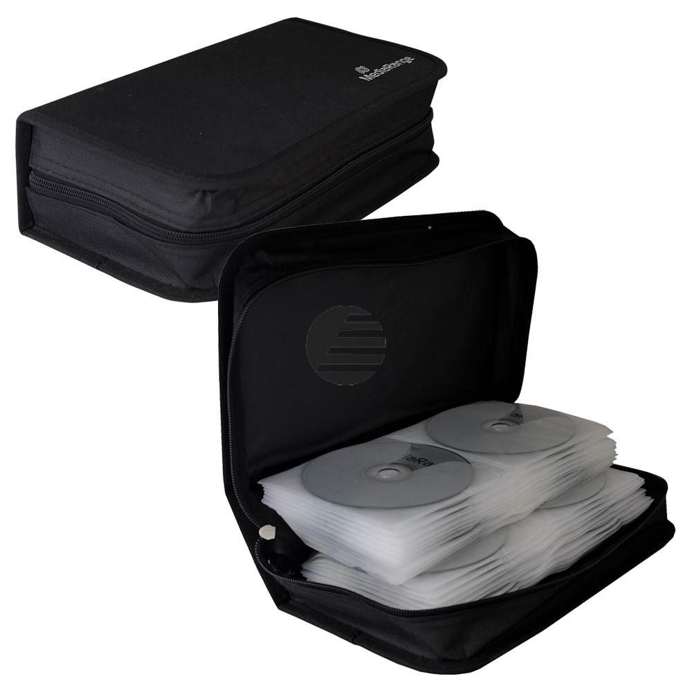 Mediarange CD Wallet black Nylon für 96 Stück (BOX55)