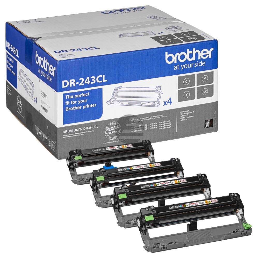Brother Fotoleitertrommel gelb, cyan, magenta, schwarz (DR-243CL)