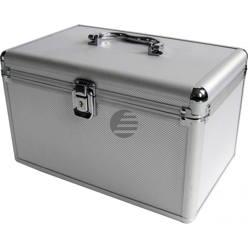 MEDIARANGE ARCHIVIERUNGSKOFFER SILBER BOX75 fuer 200Discs