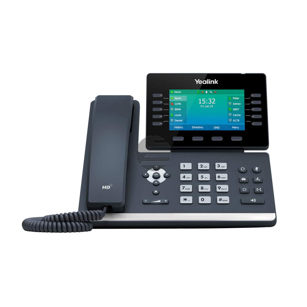 Yealink SIP-T54W, VoIP-Telefon (SIP), ohne Netzteil, PoE