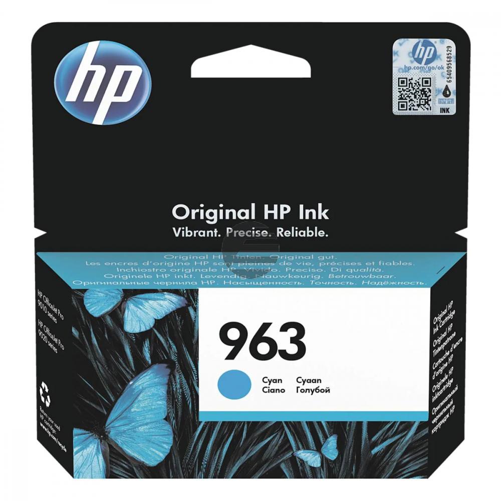 HP Tintendruckkopf cyan (3JA23AE#BGX, 963)