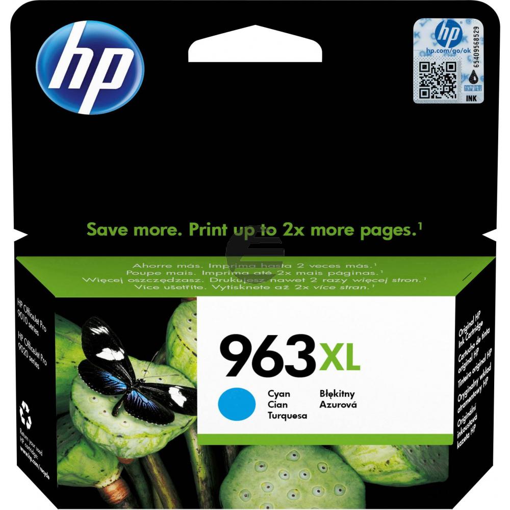 HP Tintenpatrone cyan HC (3JA27AE#BGX, 963XL)