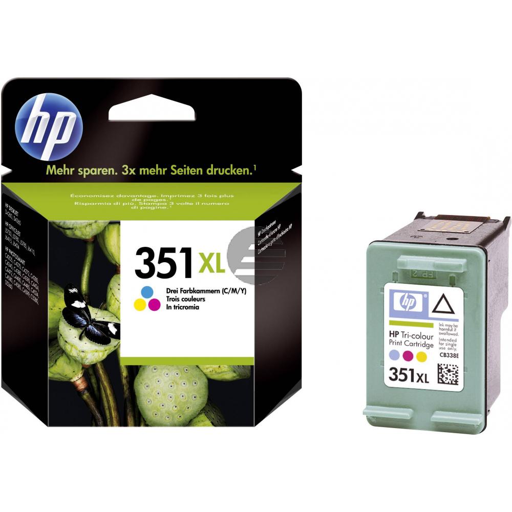 HP Tintendruckkopf cyan/gelb/magenta HC (CB338EE#ABE, 351XL)