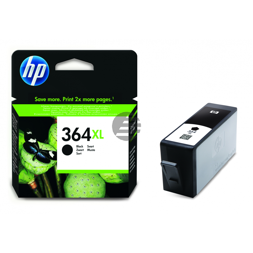 HP Tintenpatrone schwarz HC (CN684EE#ABE, 364XL)