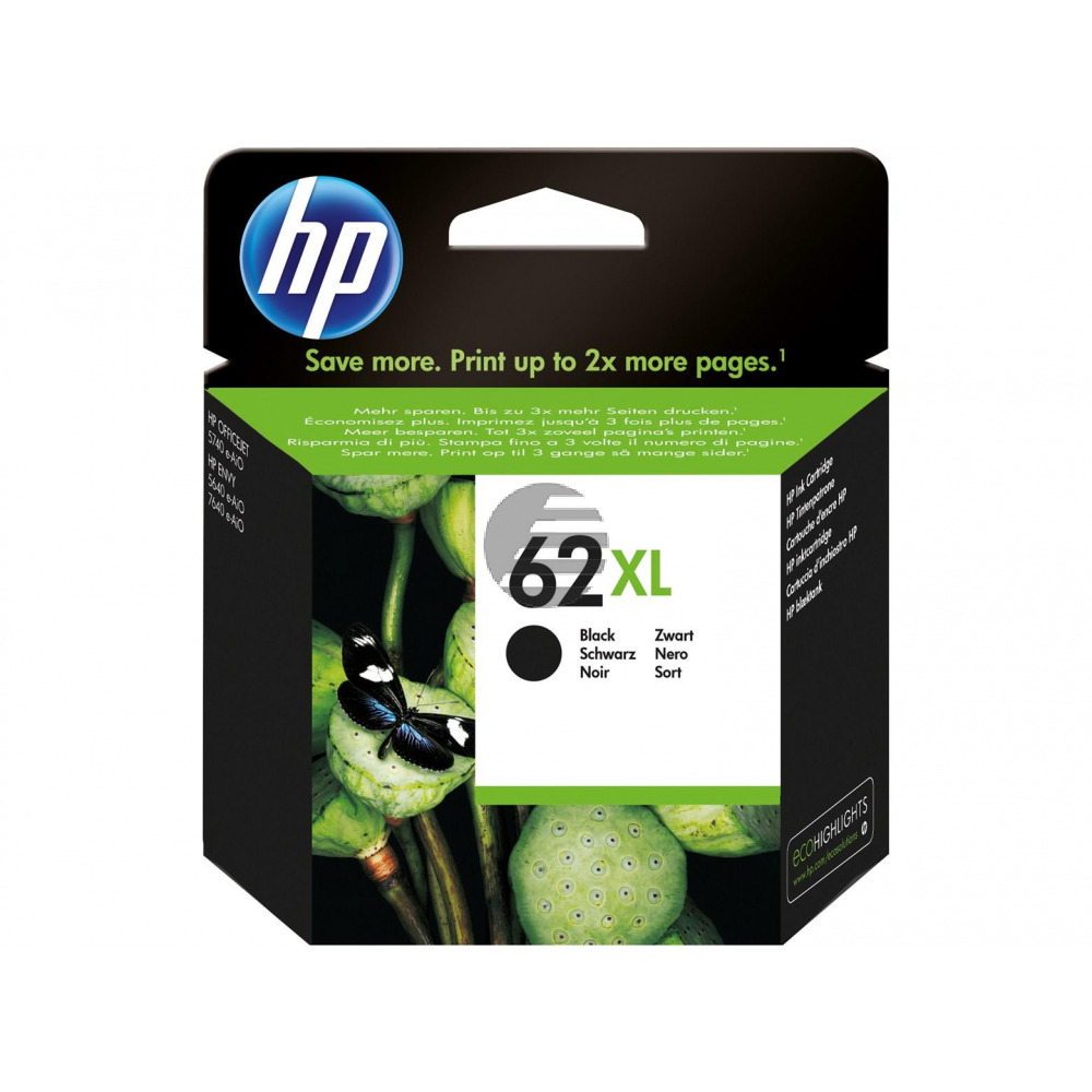 HP Tintendruckkopf schwarz HC (C2P05AE#ABE, 62XL)