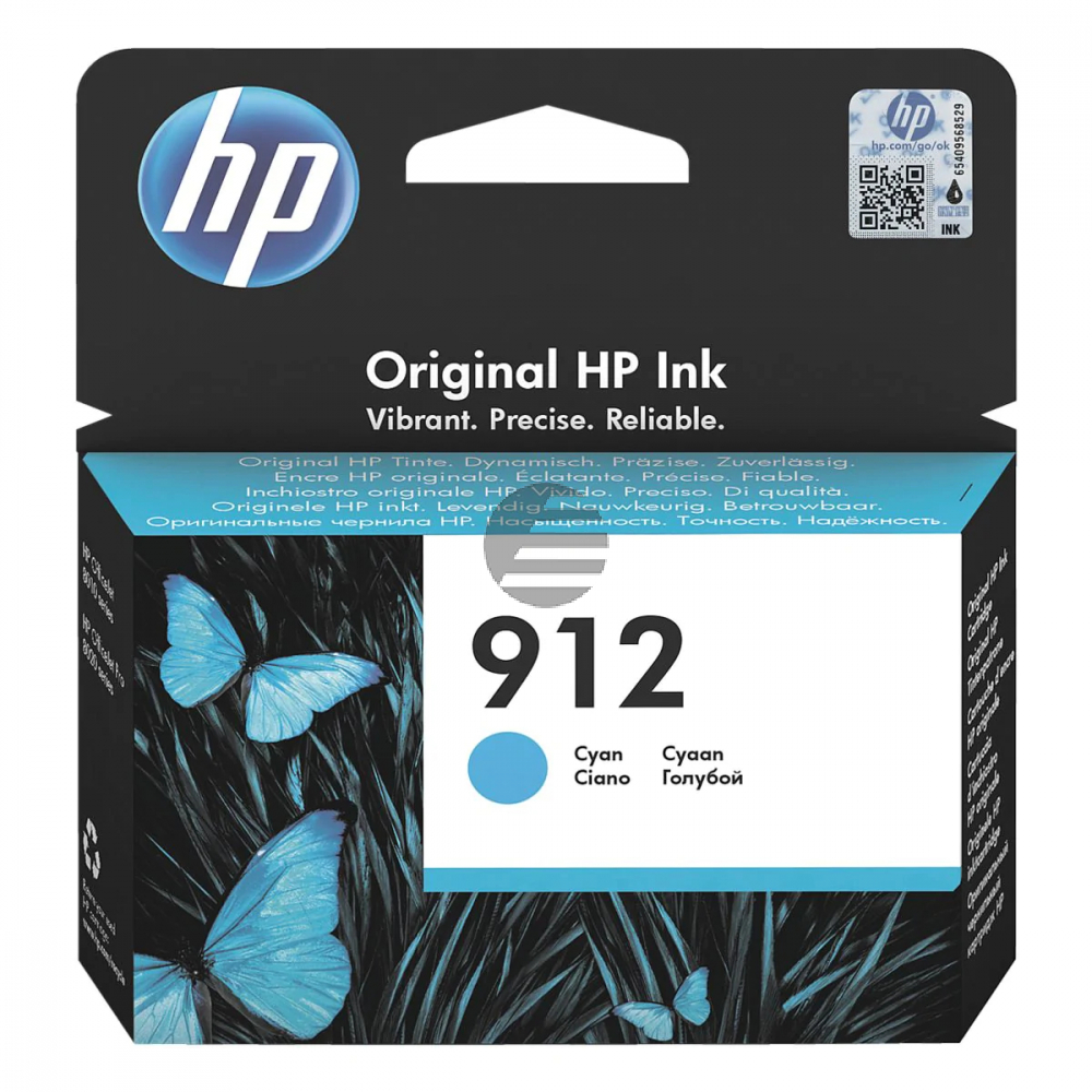 HP Tintenpatrone cyan (3YL77AE#BGX, 912)