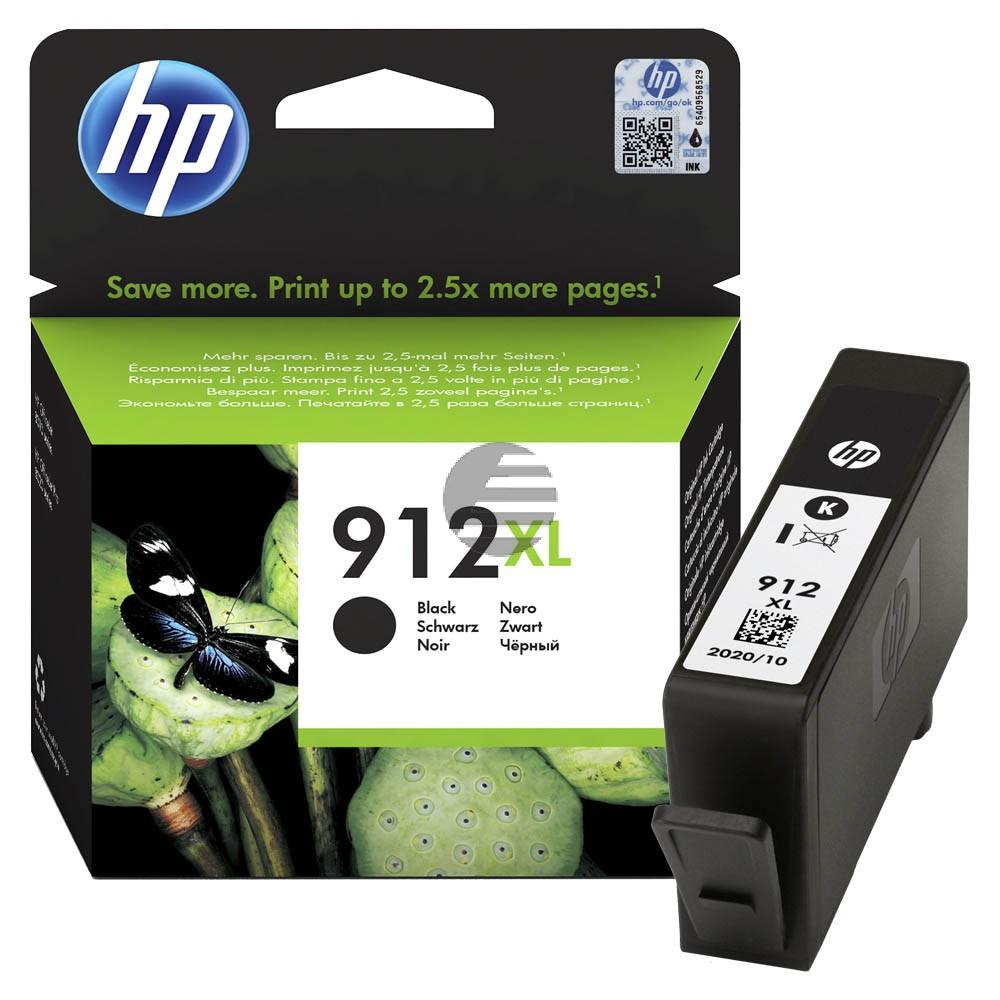 HP Tintenpatrone schwarz HC (3YL84AE#BGX, 912XL)