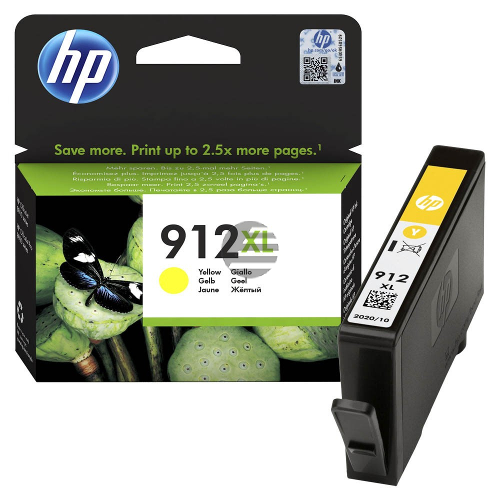 HP Tintenpatrone gelb HC (3YL83AE#BGX, 912XL)