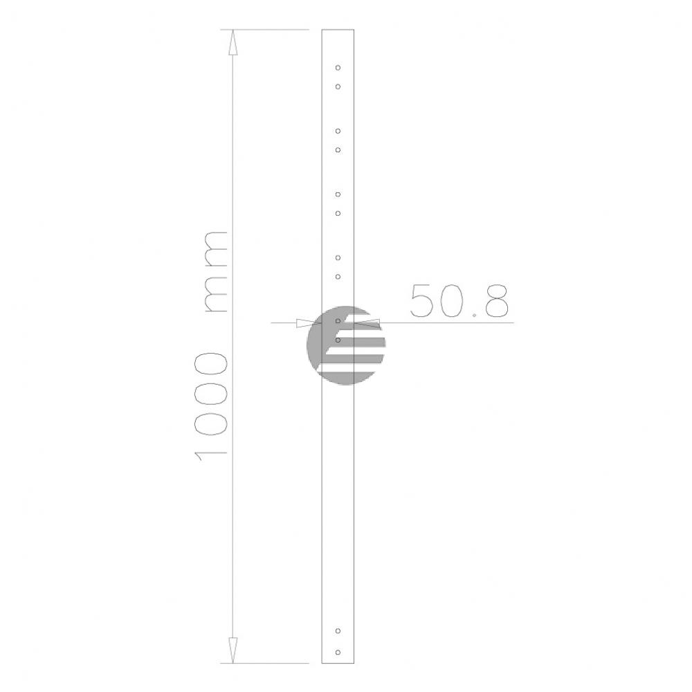 NEWSTAR DECKENHALTER VERLAENGERUNGSROHR FPMA-CP100 100cm silber