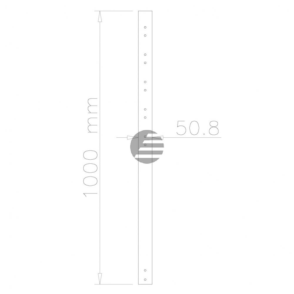 NEWSTAR DECKENHALTER VERLAENGERUNGSROHR FPMA-CP100BLACK 100cm schwarz