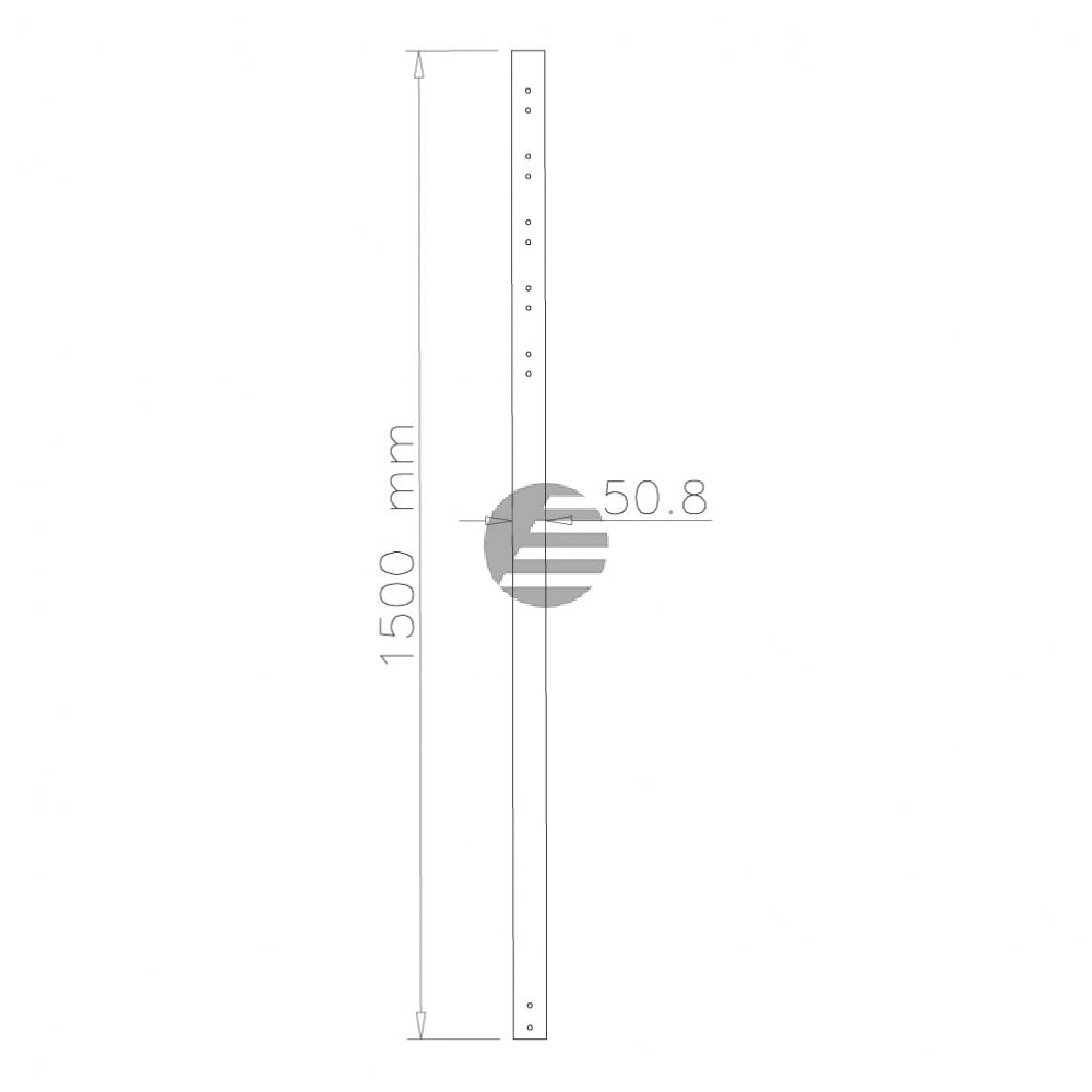 NEWSTAR DECKENHALTER VERLAENGERUNGSROHR FPMA-CP150 150cm silber