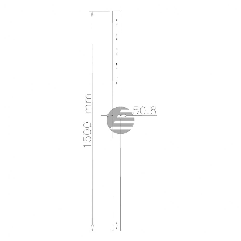 NEWSTAR DECKENHALTER VERLAENGERUNGSROHR FPMA-CP150BLACK 150cm schwarz