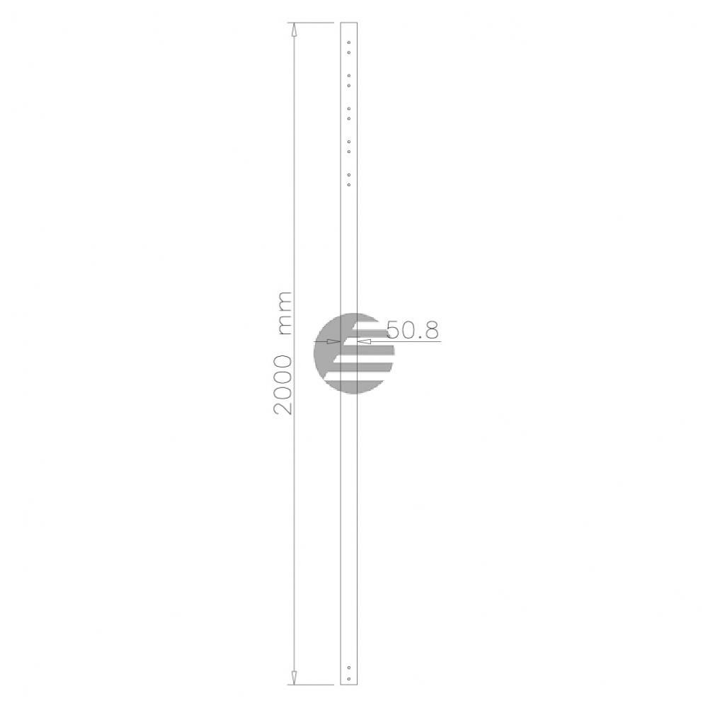 NEWSTAR DECKENHALTER VERLAENGERUNGSROHR FPMA-CP200 200cm silber