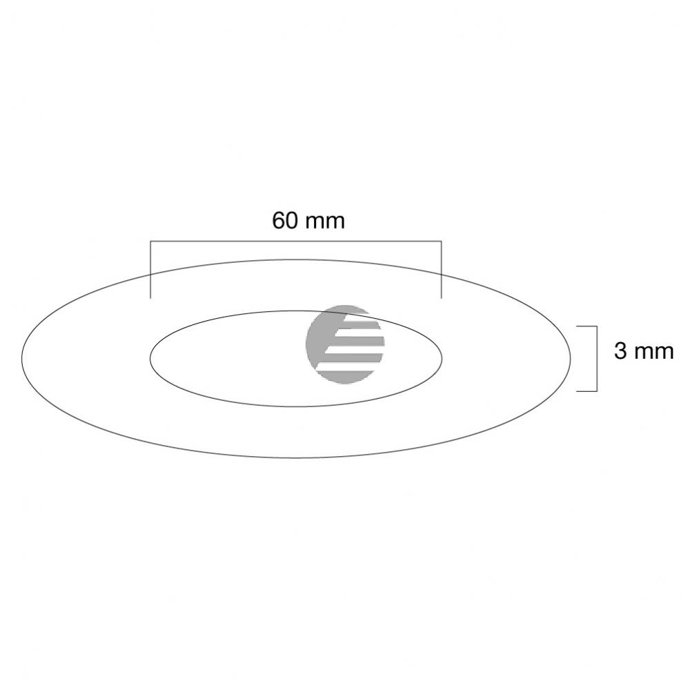 NEWSTAR ABDECKROSETTE WEISS FPMA-CRW6 60mm