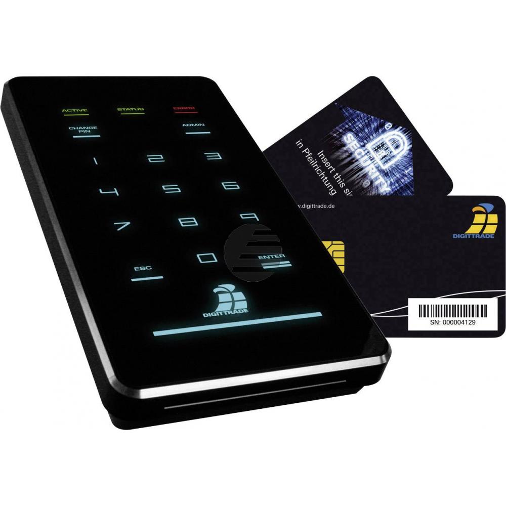 DIGITTRADE SSD FESTPLATTE EXTERN 4TB DG-HS256S3-4TBS USB 3.0 hohe Sicherheit