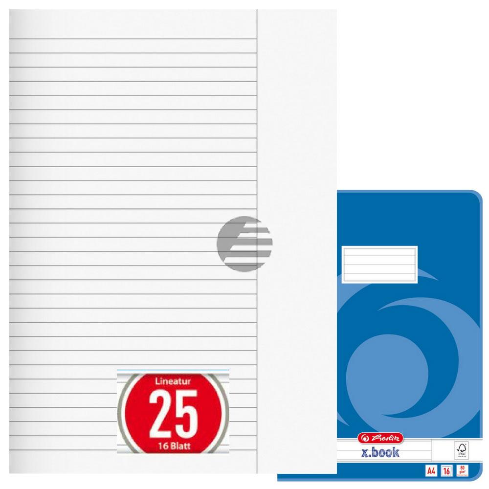 Herlitz Hefte A4 Liniatur 25 16 Blatt (03322500)