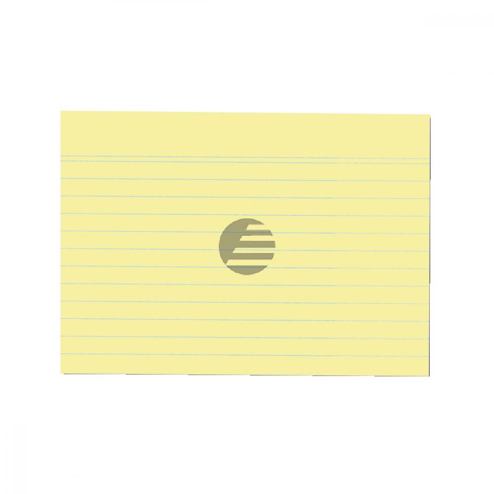 Herlitz Karteikarten A6 gelb liniert Inh.100 (01150614)