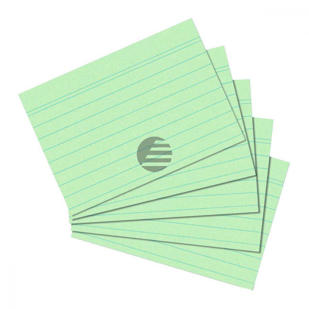 Herlitz Karteikarten A6 grün liniert Inh.100 (01150655)
