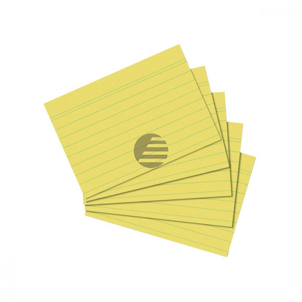 Herlitz Karteikarten A7 gelb liniert Inh.100 (01150713)