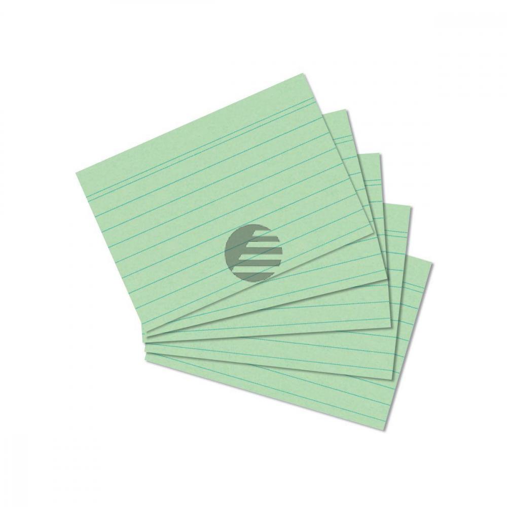 Herlitz Karteikarten A7 grün liniert Inh.100 (01150754)