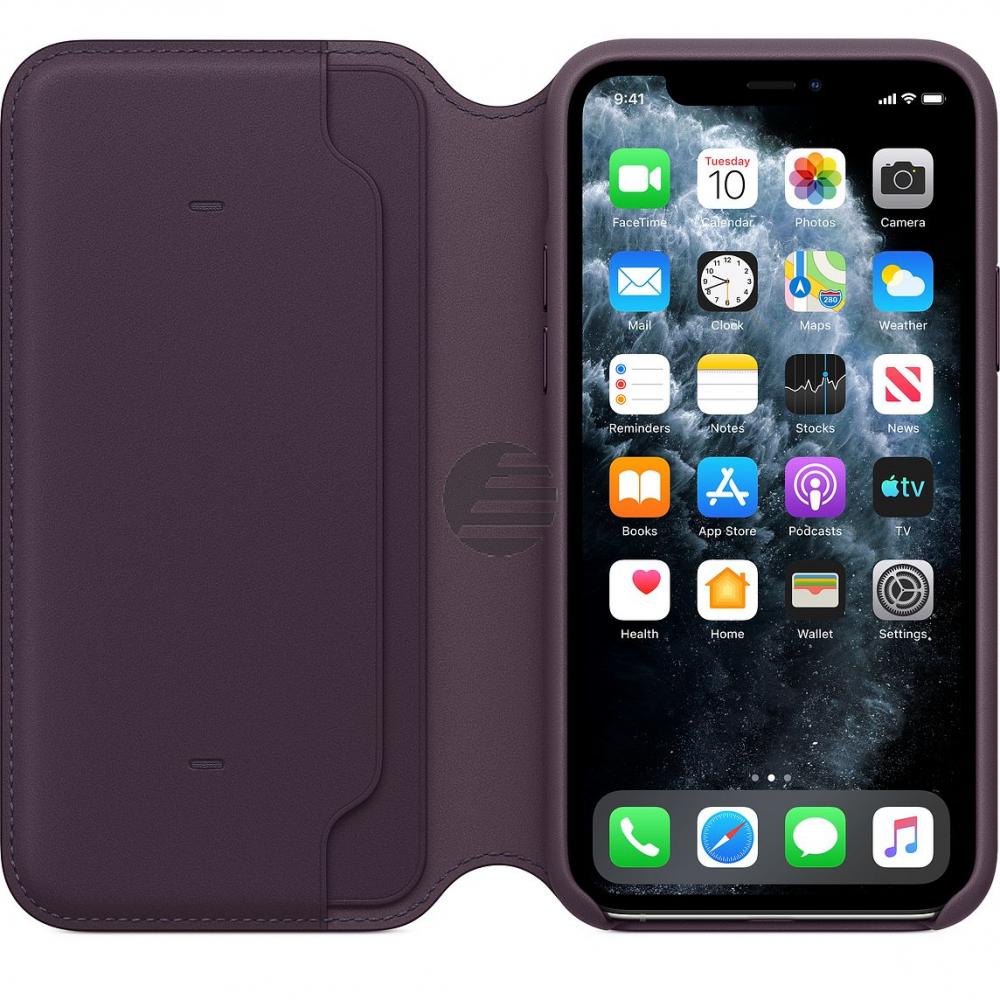 Apple iPhone 11 Pro Leather Folio aubergine
