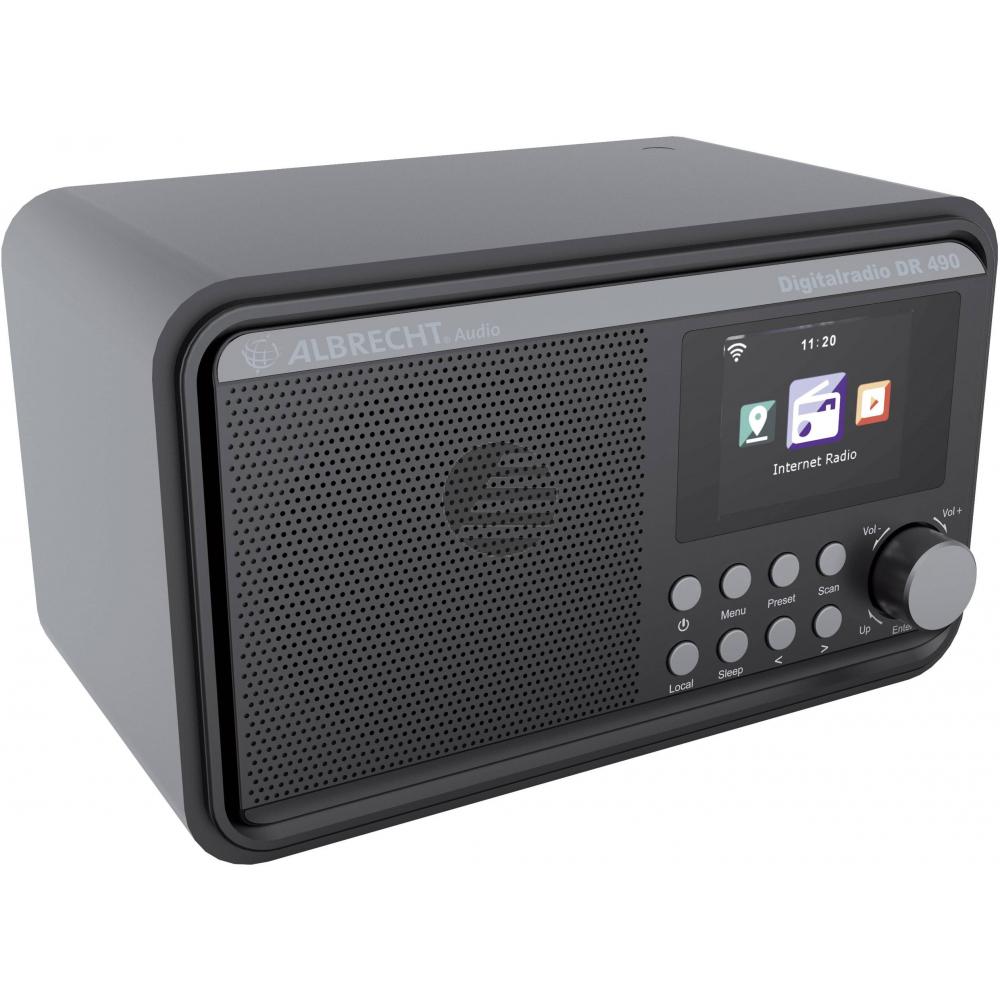 Albrecht DR 490, HybridradiomitInternetradio, DAB+ und UKW, schwarz
