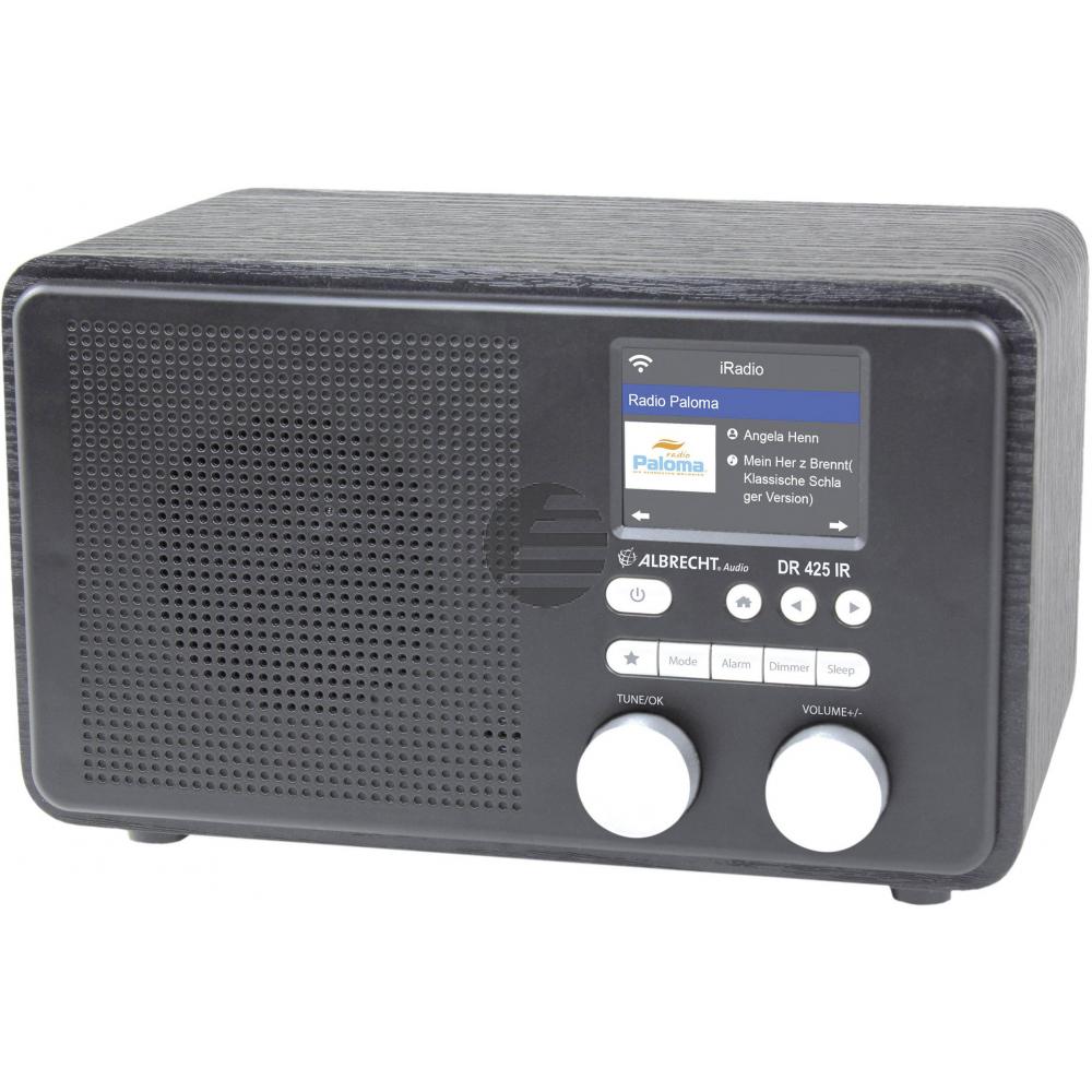 Albrecht DR 425 IR, Internetradio mit DAB+, schwarz