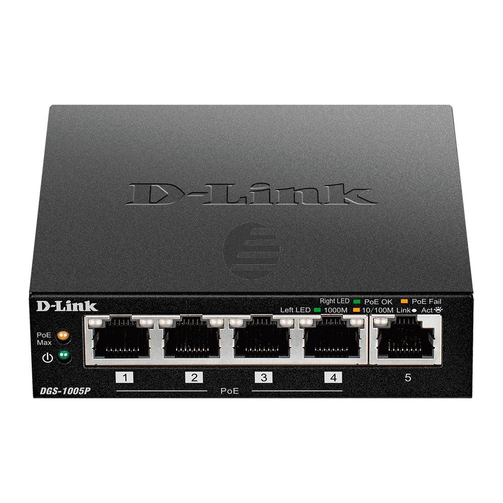 D-Link DGS-1005P 5-Port Layer2 PoE Gigabit Switch