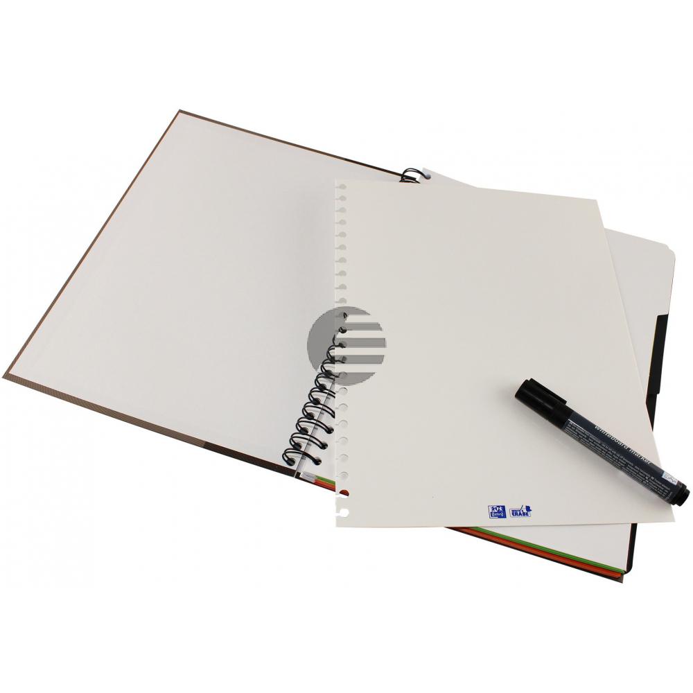 OXFORD European Book, Whiteboard A4+ 400132984 kariert, beere 120 Blatt