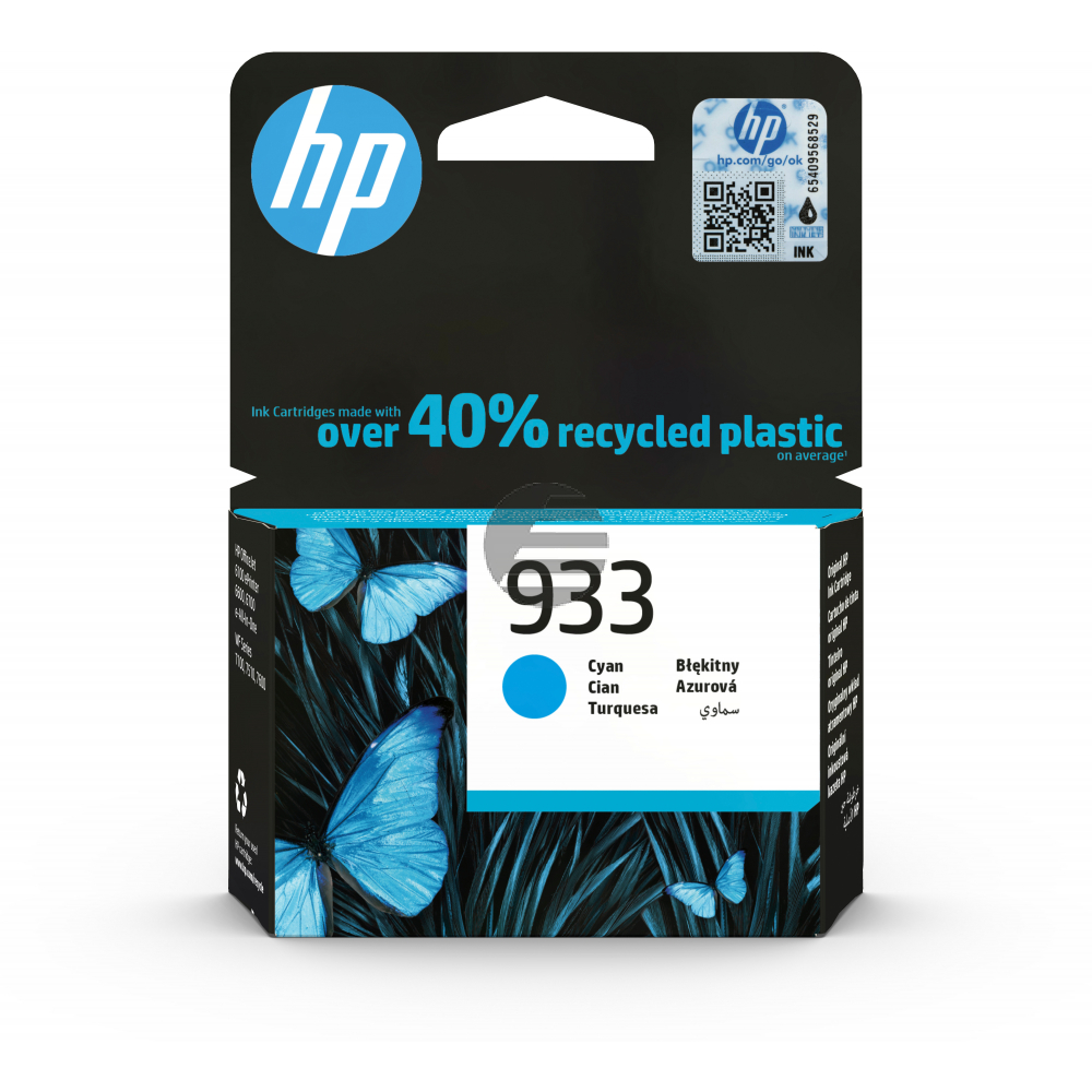HP Tintenpatrone cyan (CN058AE#BGX, 933)
