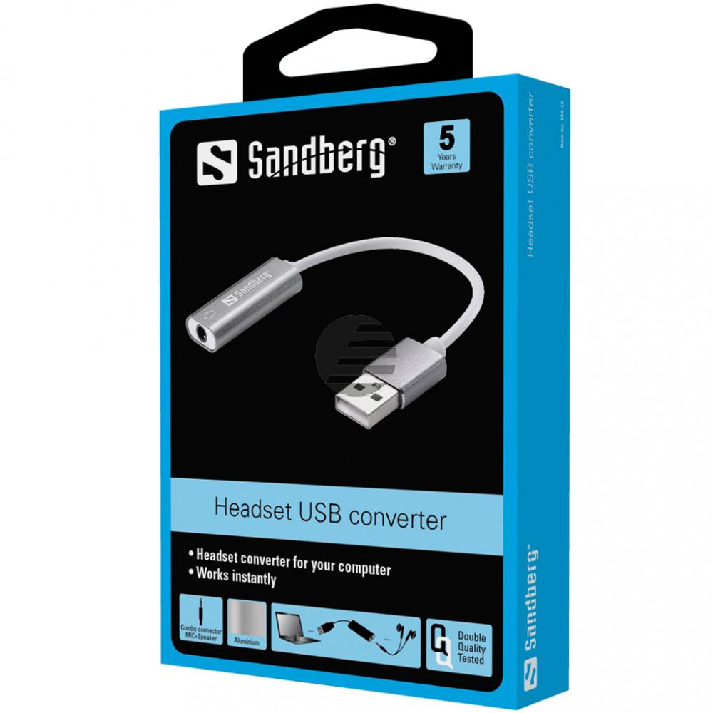 SANDBERG Headset USB converter