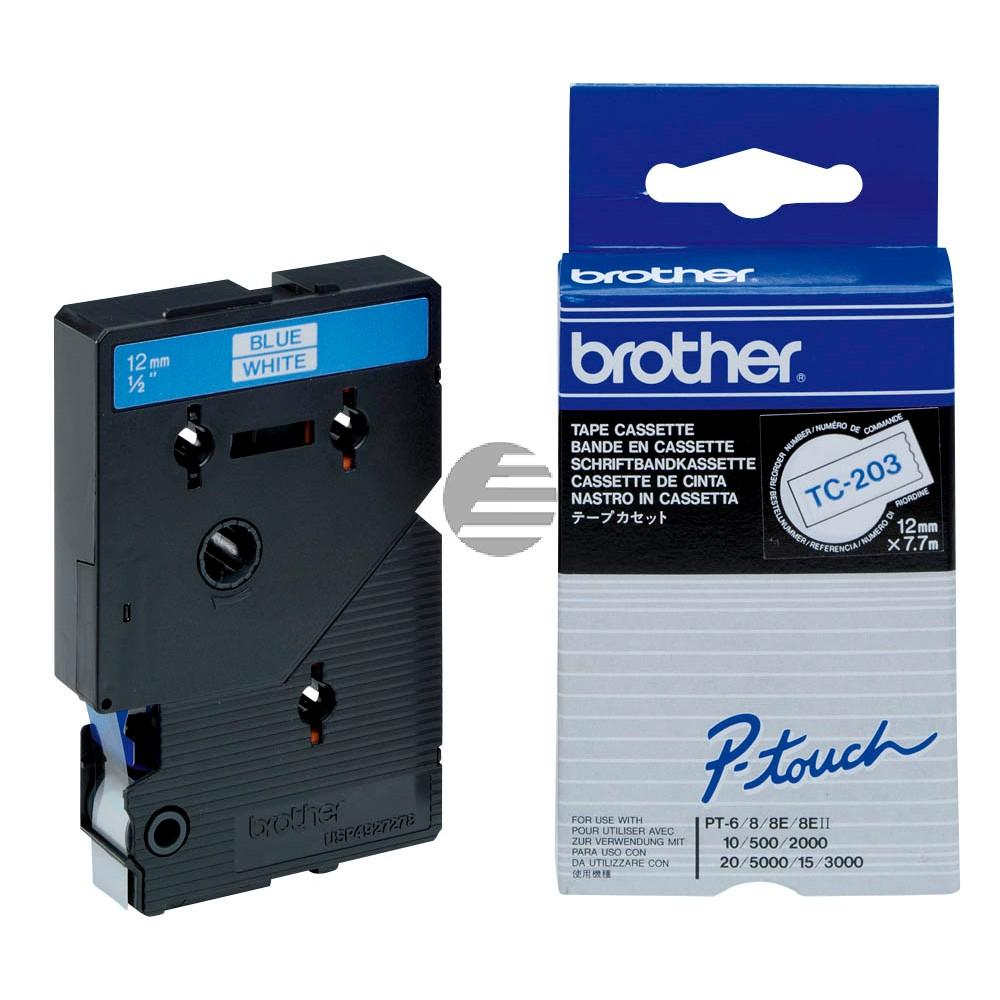 Brother Schriftbandkassette schwarz/weiß (TC-203)