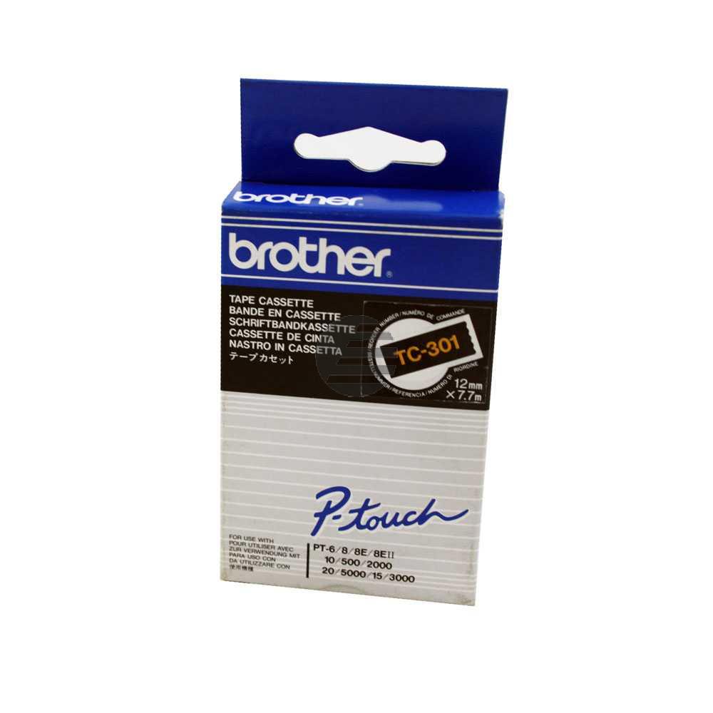 Brother Schriftbandkassette gold/schwarz (TC-301)