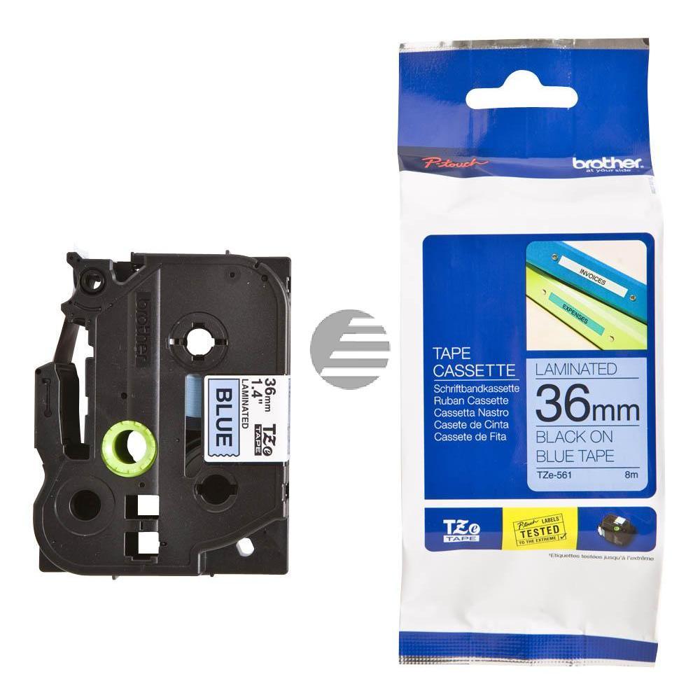 Brother Schriftbandkassette schwarz/blau (TZE-561)