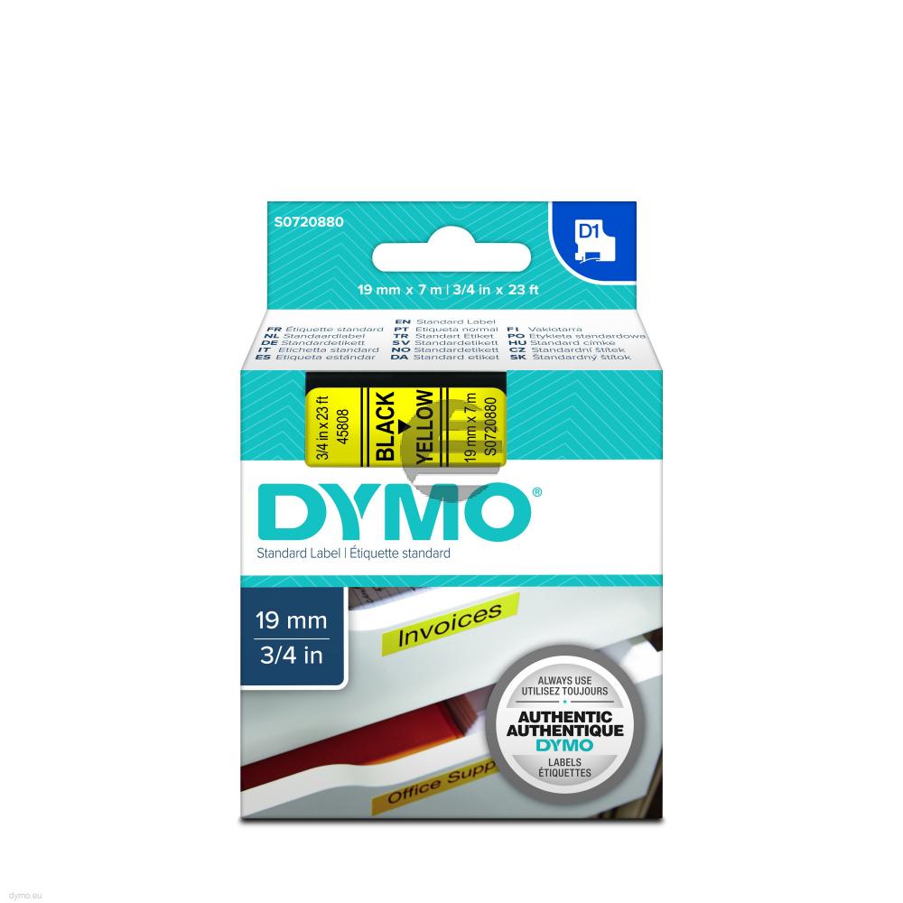 Dymo Schriftbandkassette schwarz/gelb (45808)