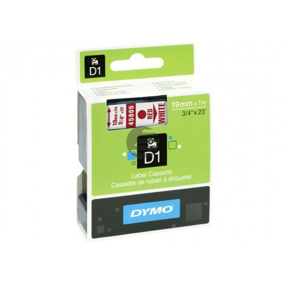 Dymo Schriftbandkassette rot/weiß (45805)