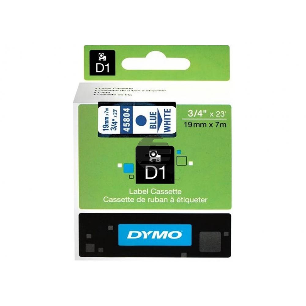 Dymo Schriftbandkassette schwarz/weiß (45804)