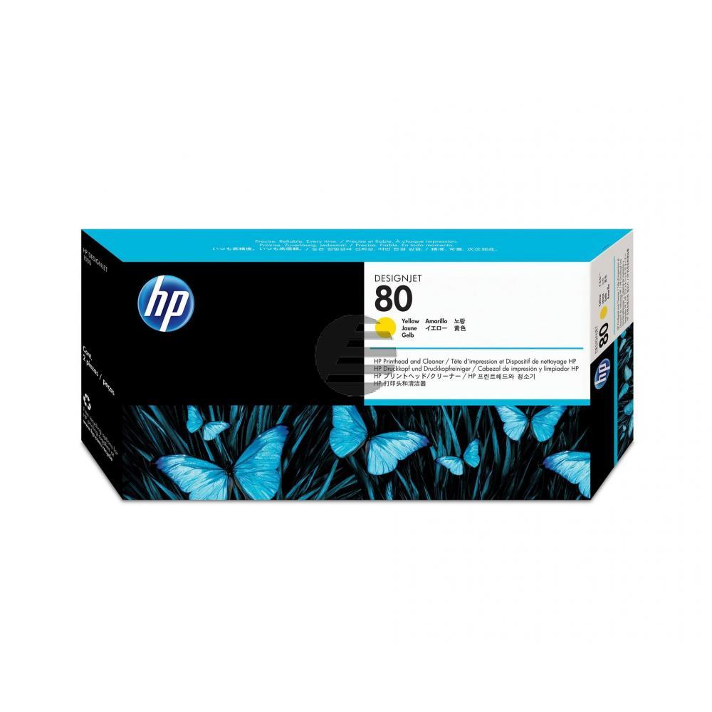 HP Tête d'impression jet d'encre jaune (C4823A, 80)