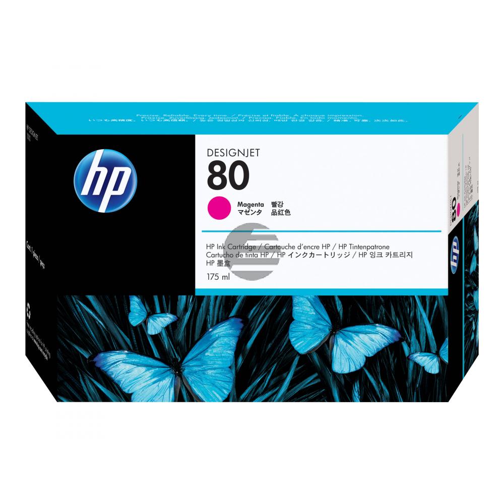 HP Tintenpatrone magenta (C4874A, 80)