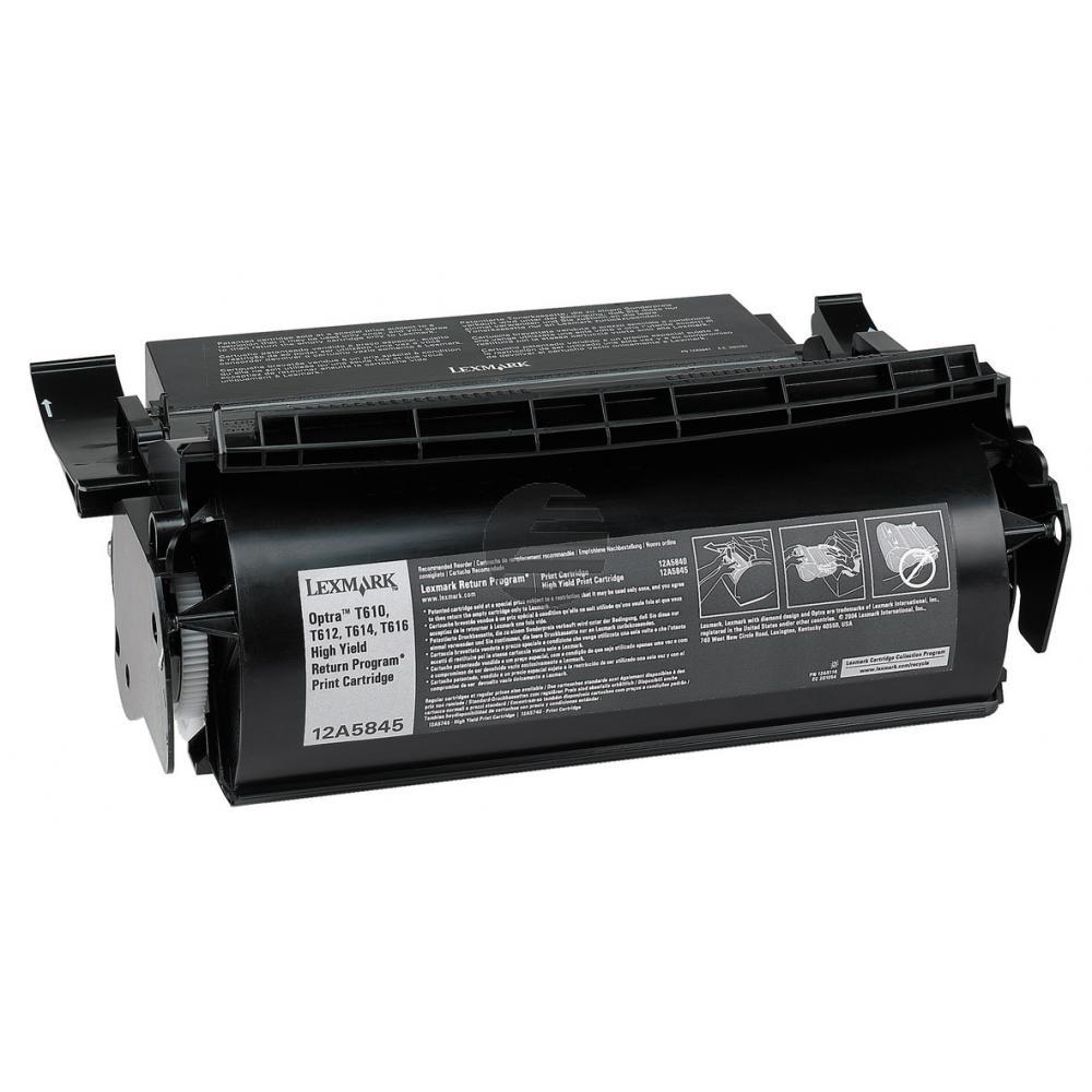 Lexmark Toner-Kartusche Prebate schwarz HC (12A5845)
